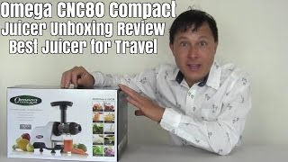 omega cnc80 compact juicer unboxing review best for travel