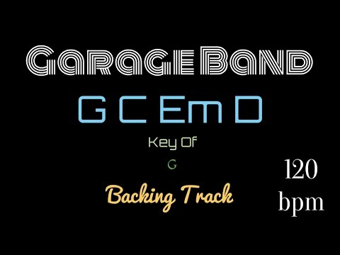 Guitar - Garage Band - G C Em D Backing Track Pop Rock