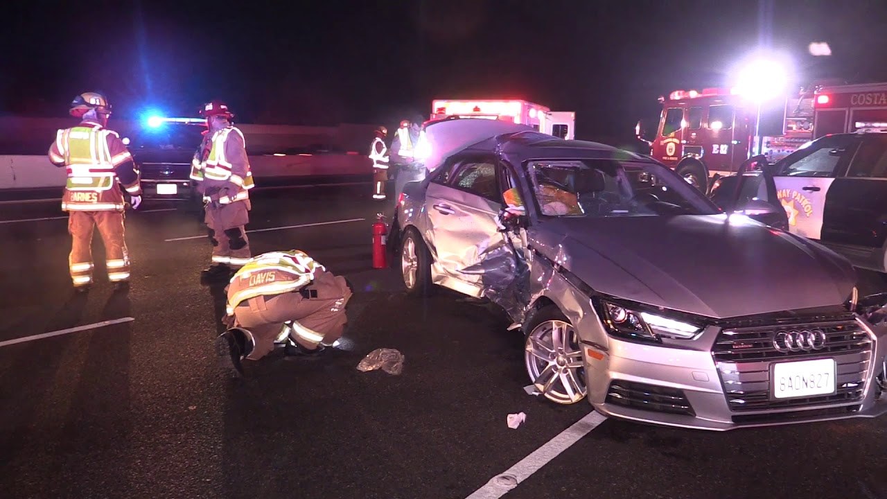 MAJOR ACCIDENT ON THE 405 FREEWAY IN COSTA MESA