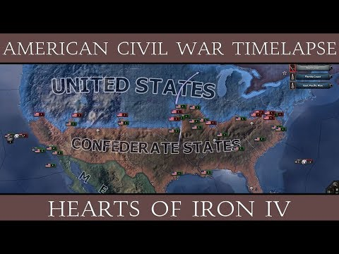 Hearts of Iron 4: American Civil War Timelapse