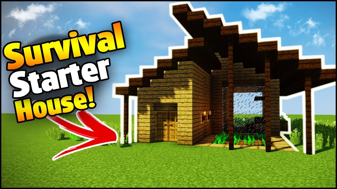 Minecraft survival starter house tutorial how to build for Minecraft moderno