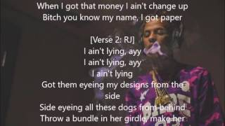 DJ Mustard Know My Name ft. Rich The Kid, RJ (lyrics On Screen)