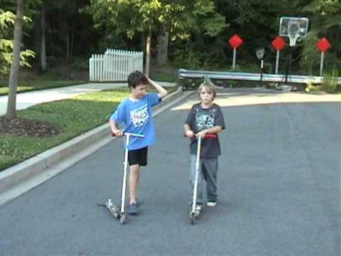 Kids On Razor Scooters Youtube