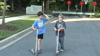 Kids on Razor Scooters