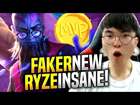FAKER is INSANE with NEW RYZE! - SKT T1 Faker Plays Ryze vs Jayce Mid!   S9 KR SoloQ Patch 9.12