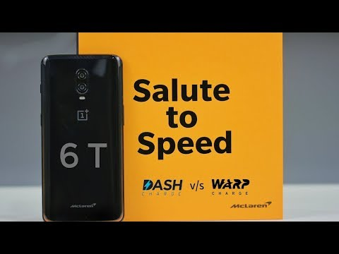 OnePlus 6T McLaren Edition Unboxing and Charging Test | Warp Charge vs Dash Charge