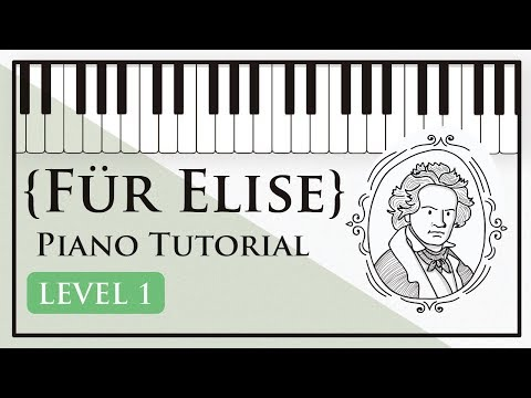 How to Play Für Elise - Easy Piano Tutorial (Level 1) - Hoffman Academy