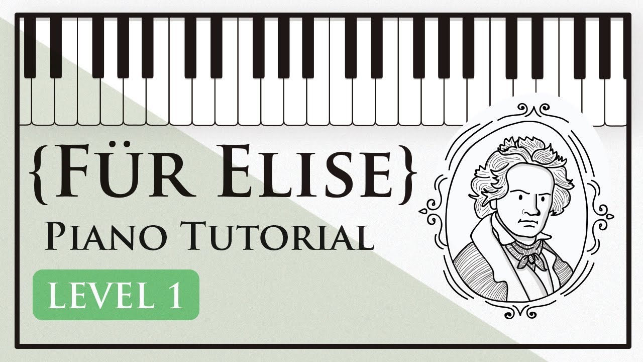 how to play fur elise on piano tutorial