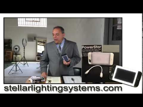 "Stellar Lighting PowerStar battery Pack and pro Video lighting case for 4.7"" iPhone 6"