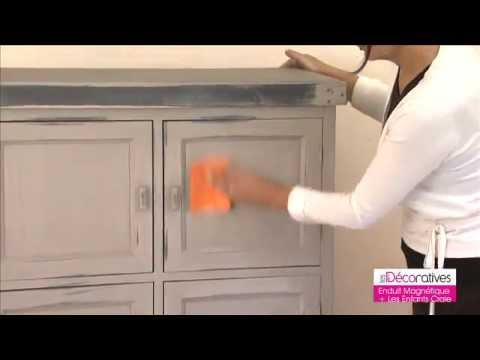 Peinture d corative enduit magn tique les d coratives sur youtube - Moulures decoratives pour meubles ...
