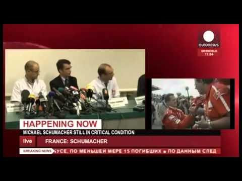 Conferencia de Prensa Hospital de Grenoble accidente Michael Schumacher