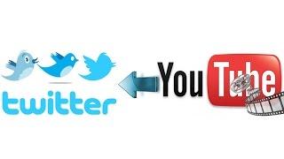 Как вставить видео с Ютуба в Твитер