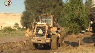 القوات المسلحة تعيد الحياة مرة أخرى للقرى المتضررة من السيول .. فيديو