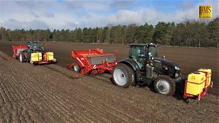 Zwillinge im Einsatz - 2 Kubota M7151 Traktoren & Grimme Pflanzmaschine GL 430 pflanzen Kartoffeln
