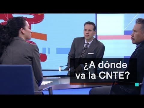 La CNTE debate sobre el paro y el regreso a clases con Alexandra Zapata