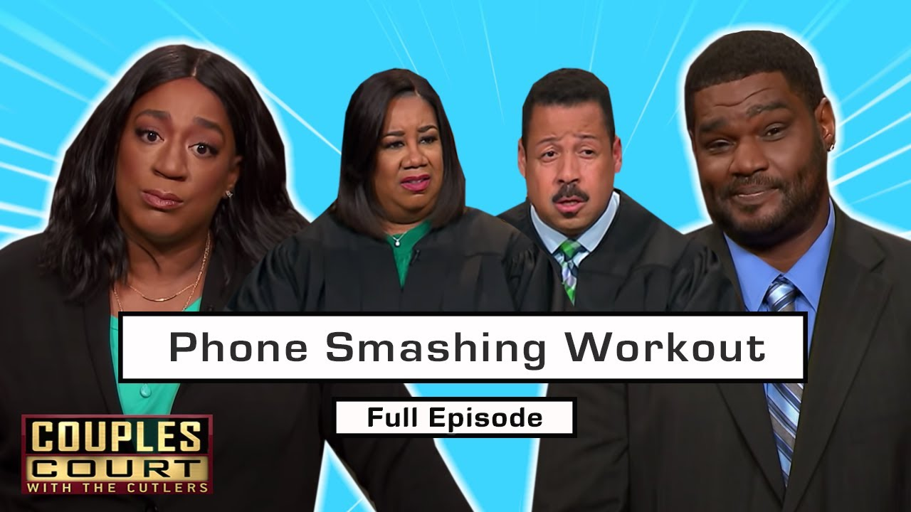 Phone Smashing Workout: Man Breaks Phone To Destroy Evidence? (Full Episode)   Couples Court