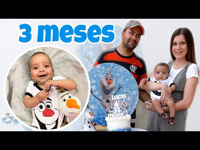 3 MESES DO LUCAS -  FIZEMOS UM CHURRASCO