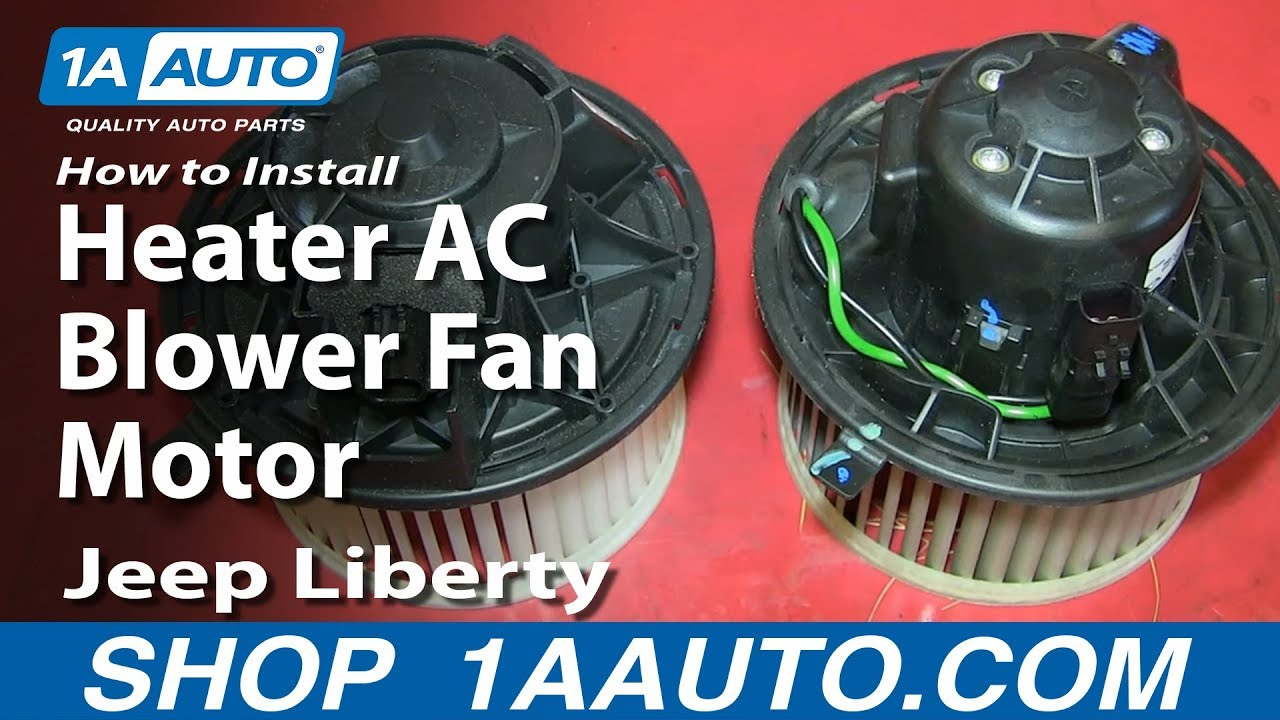 How To Install Replace Heater Ac Blower Fan Motor 2002 07 Jeep 2009 Commander Fuse Diagram Liberty Youtube
