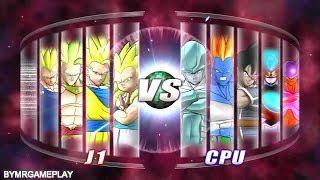 Dragon Ball: Raging Blast 2 Team SSJ3 vs Team Movie Villains
