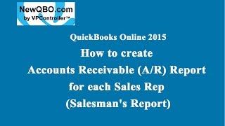 QuickBooks Online: Wie erstellen Sie Accounts Receivable (A/R) - Bericht für jeden einzelnen Vertriebsmitarbeiter (Verkäufer)