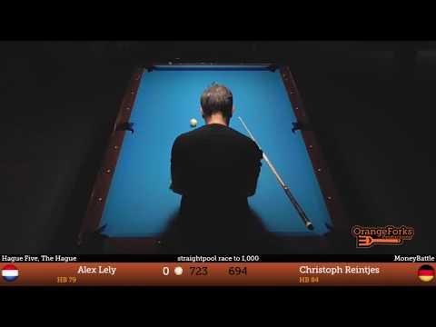 MoneyBattle: Alex Lely v Christoph Reintjes - Straightpool race to 1.000