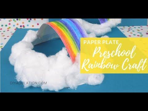 Paper Plate Preschool Rainbow Craft Youtube