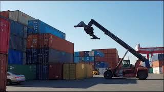 수출용컨테이너 보관장 장비 핸드링 / 리치스태커 (OD…