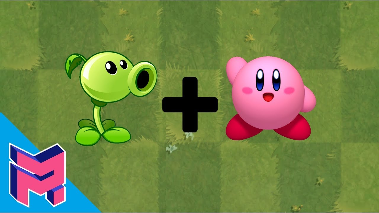 Plants vs Zombies Fusion Hack Animation ( Peashooter + Kirby )