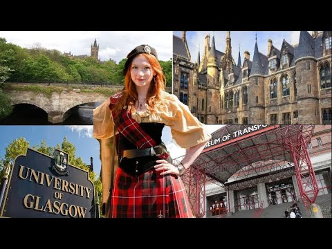 GLASGOW WALKING TOUR, University Of Glasgow, Transport Museum & Patrick Bridge   VLOG