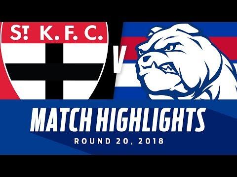 St Kilda v Western Bulldogs Highlights | Round 20, 2018 | AFL