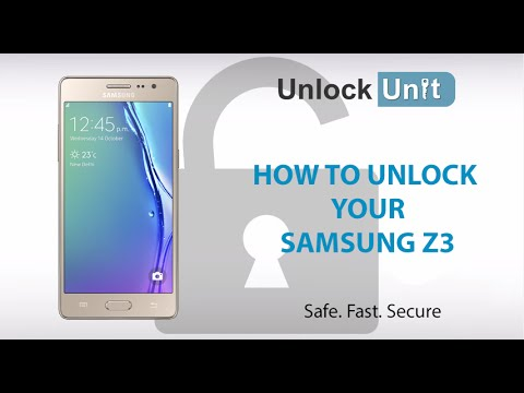HOW TO UNLOCK Samsung Z3