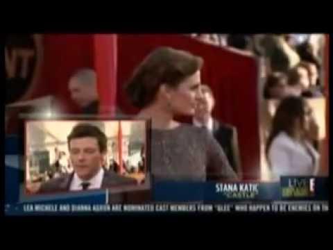 Stana Katic wears Oday Shakar on the Red Carpet