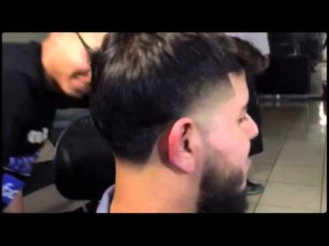 Taper fade with long hair Created with Magisto