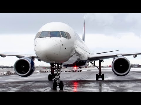 Delta Airlines Boeing 757-200 (B752) landing in Montreal (YUL/CYUL)