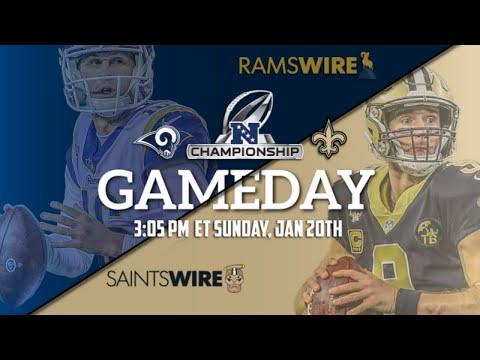 NFL Playoffs: NFC Championship Game Rams vs Saints LIVE REACTION!