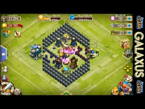 Castle Clash-Base Design For TH 14, Beating HBM J, And Lost Realm(Best F2p CC Account Series Ep.5)