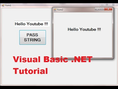 Visual Basic  NET Tutorial 46 - Passing a value from one form to another  form in VB NET