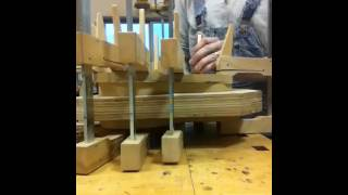 Shop Minute- Gluing The Back On With Cam Clamps