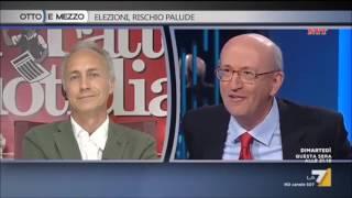 TRAVAGLIO MASSACRA D'ALIMONTE!! ( DA VEDERE )