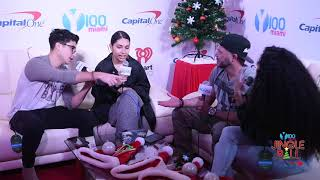 Y100 Jingle Ball - Chris Cruz, Frankie P, and Carolina w/ Alessia Cara Video