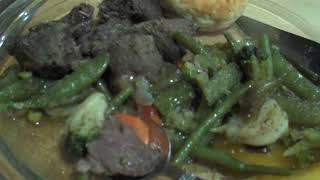 Black Bear Stew for Dinner but not a great meal watch video VID06977