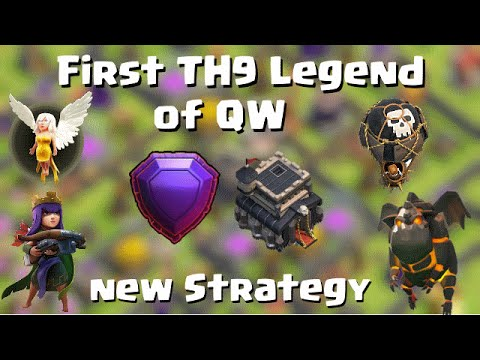 First TH9 Legend of the Quantum´s Family! with a new strategy | Quantum´s 8.9 | Clash of Clans