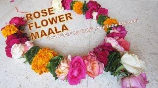 How to Make DIY Garland Maala Haar from Fresh Colorful Rose Flower & Bud  Home Decore Ideas