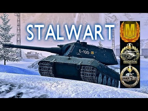E100#9 STALWART world of tank blitz Aced gameplay 5400 DMG 1vs4 Kolobanov + English Commentary