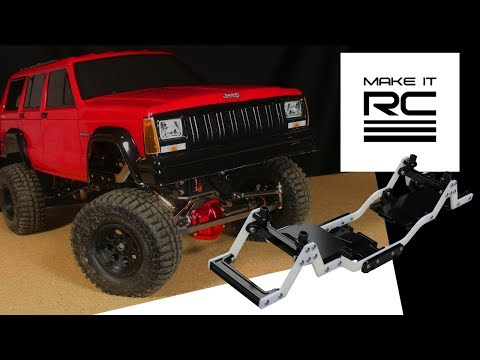 3D Printed 1/10 RC Crawler Chassis Overview & Testing + Body Line Detailing on Jeep