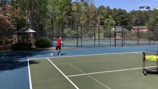 Forehand on the Run like Federer Drill