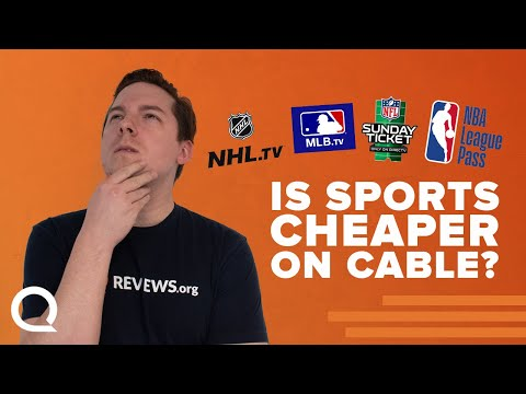 Sports STREAMING Vs CABLE - Which Is Cheaper?? | MLB.TV, NBA League Pass, NHL.tv, NFL Sunday Ticket