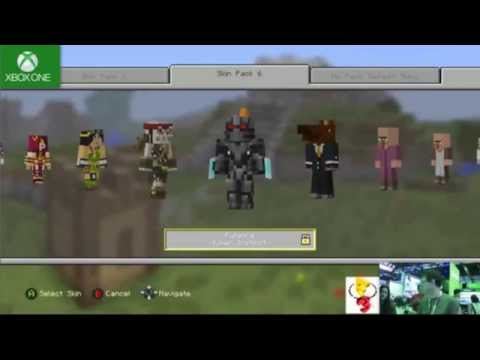 Minecraft Xbox One Skin Pack 6 Showcase - YouTube