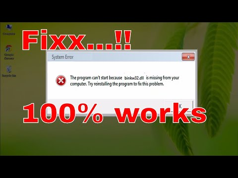 How To Fix Binkw32.dll Error Missing %100 Working - Windows 10/8/7 [2017 Tutorial]