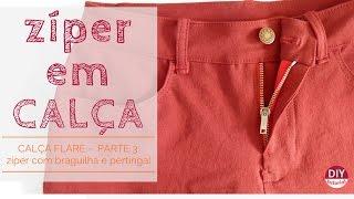 Zíper c/ braguilha e pertingal: como costurar – calça flare (pt.3)